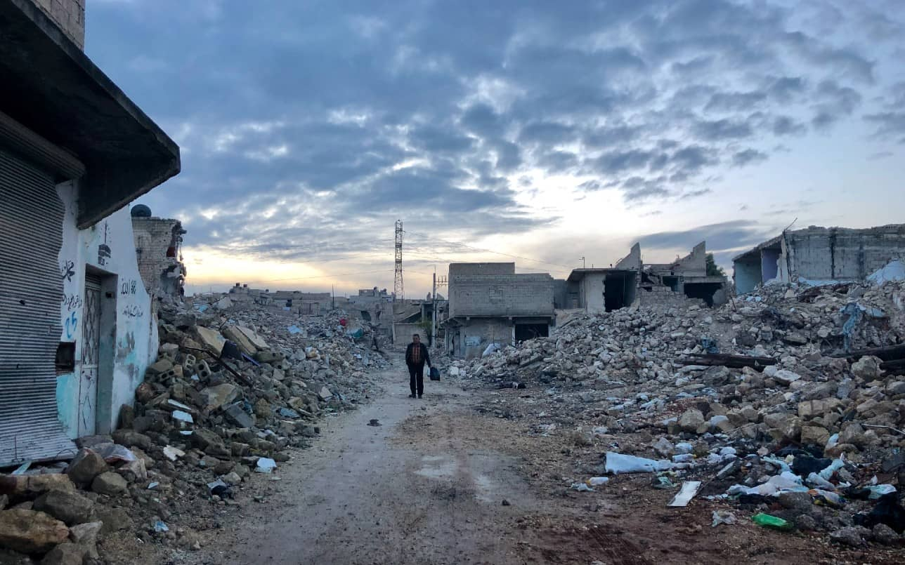 Picture of war torn Syria