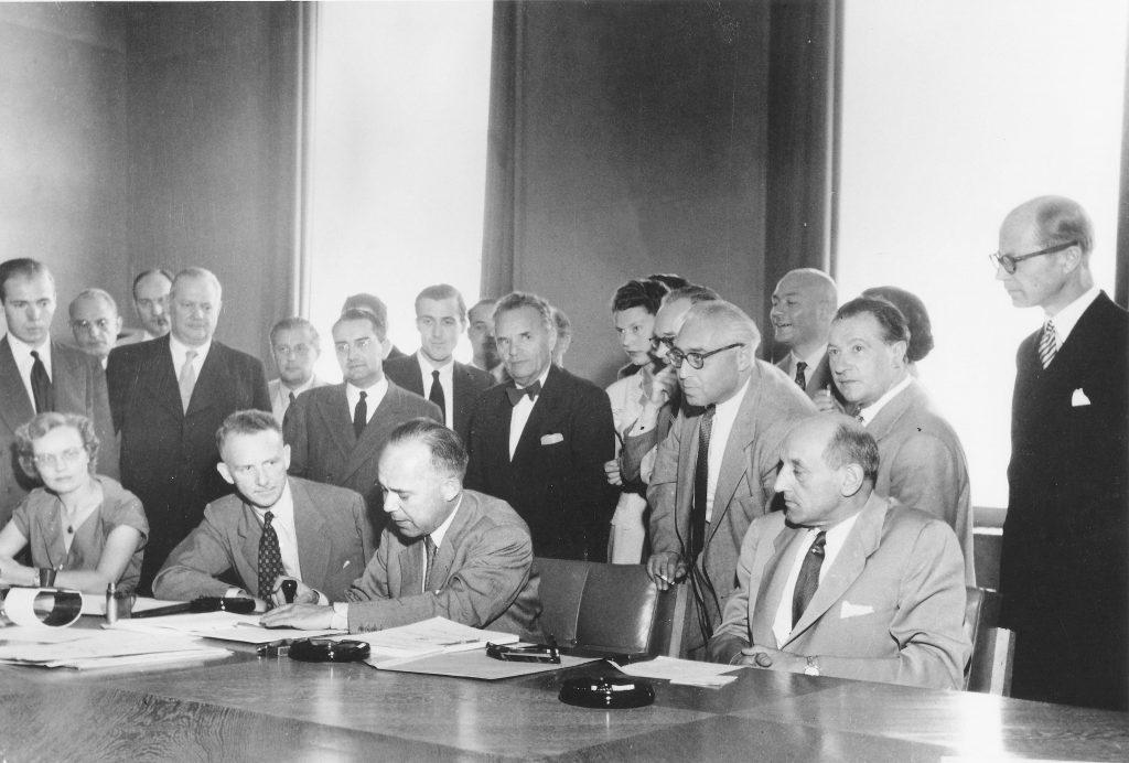 Signature of the 1951 Refugee Convention in Geneva